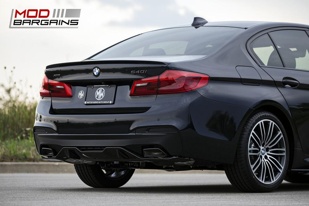 IND Matte Black Gloss Black Black Chrome Rear Trunk Badge Emblem 2017+ BMW G30 540i