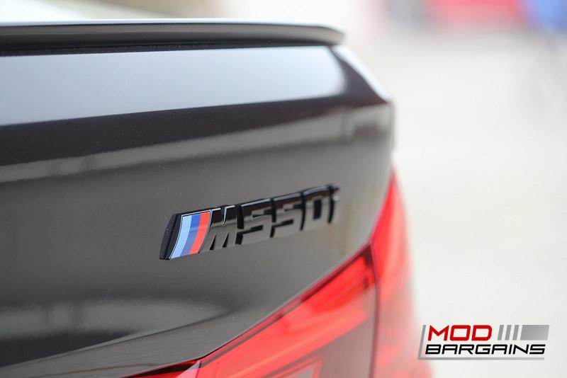 IND Matte Black Gloss Black Black Chrome Rear Trunk Badge Emblem 2017+ BMW G30 M550i