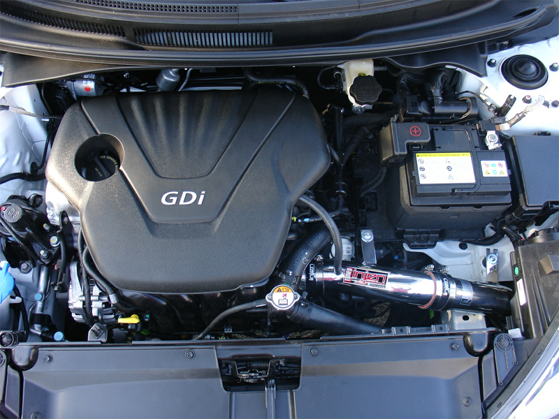 Installed Intake on Hyundai volster