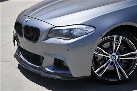 BMW F10 5 Series M Sport Carbon Fiber Front Spoiler Front Driver View