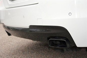 BMW F10 5 Series M Tech Carbon Fiber Rear Diffuser Close Up