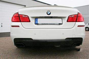 BMW F10 5 Series M Tech Carbon Fiber Rear Diffuser Rear View