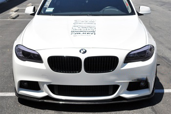 BMW F10 5 Series M Tech Hamann Style CF Front Spoiler Front View