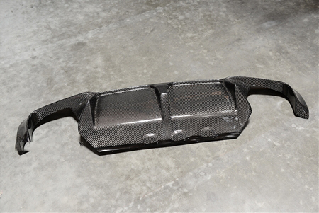 BMW M5 3D Style Carbon Fiber Rear Diffuser Off Car