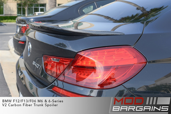 Carbon Fiber V2 Trunk Spoiler for 2012+ BMW 6-Series M6  F12 F13/F06