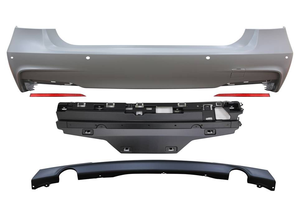BMW F30 3-Series M-Sport Rear Bumper Kit Contents