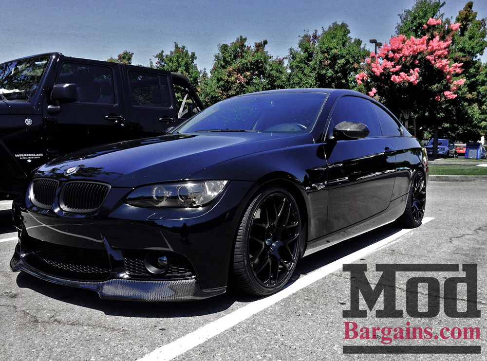 Carbon Fiber Front Lip for 2007-12 BMW 3-Series w/M3 Bumper + M3 [E90/E92/E93] VRS Style
