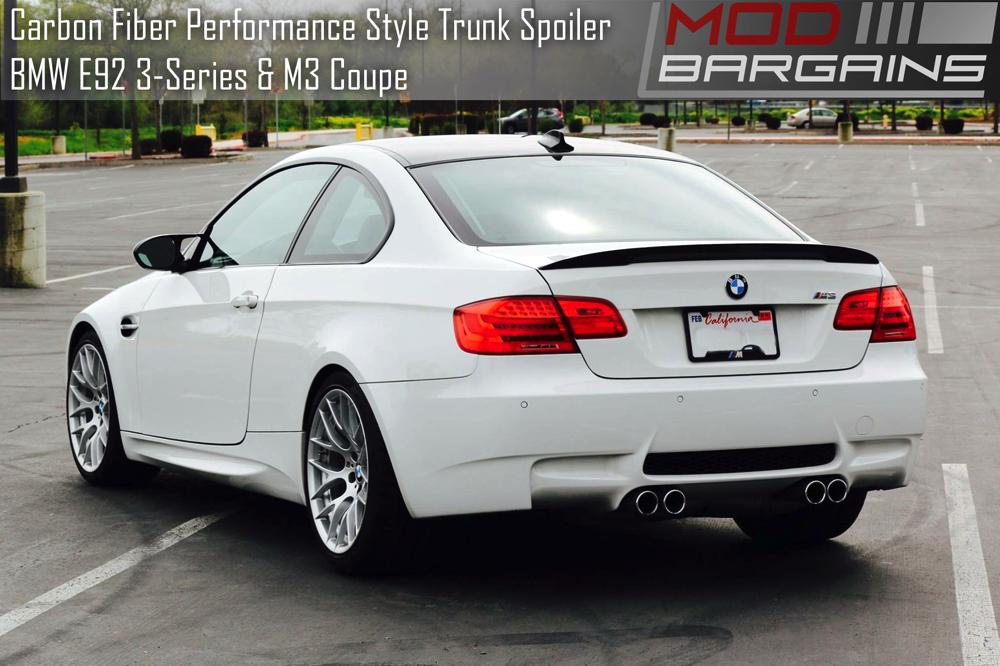 Carbon Fiber Performance Style Trunk Spoiler BMW E92 M3 Coupe