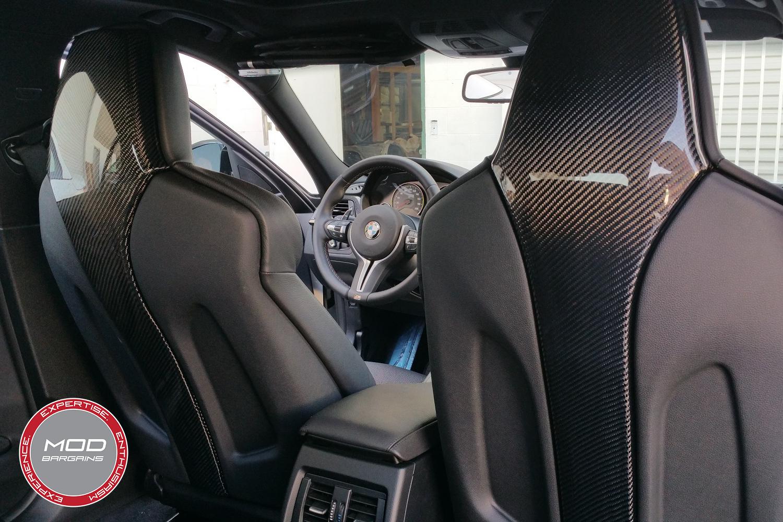 Carbon Fiber Seat Shells for BMW M4 F82 Front Seat Panels