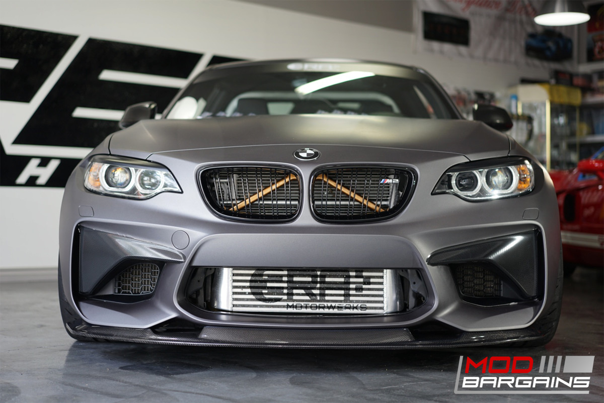 Carbon Fiber Front Lip Installed on 2015+ BMW M2 [F87] BMFS8703