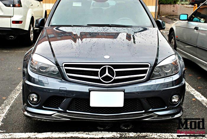 Carbon Fiber Front Lip For 2008 11 Mercedes C63 Amg W204