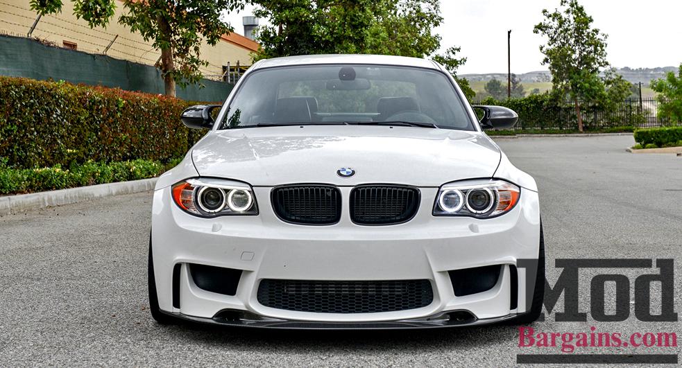 Bmw M1 For Sale >> Carbon Fiber Front Lip Splitter for 2008-12 BMW 1-Series w/1M Bumper [E82] at ModBargains.com