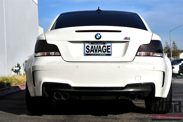 Carbon Fiber Rear Diffuser for 2008-12 BMW 1M [E82/E88] 1M Style