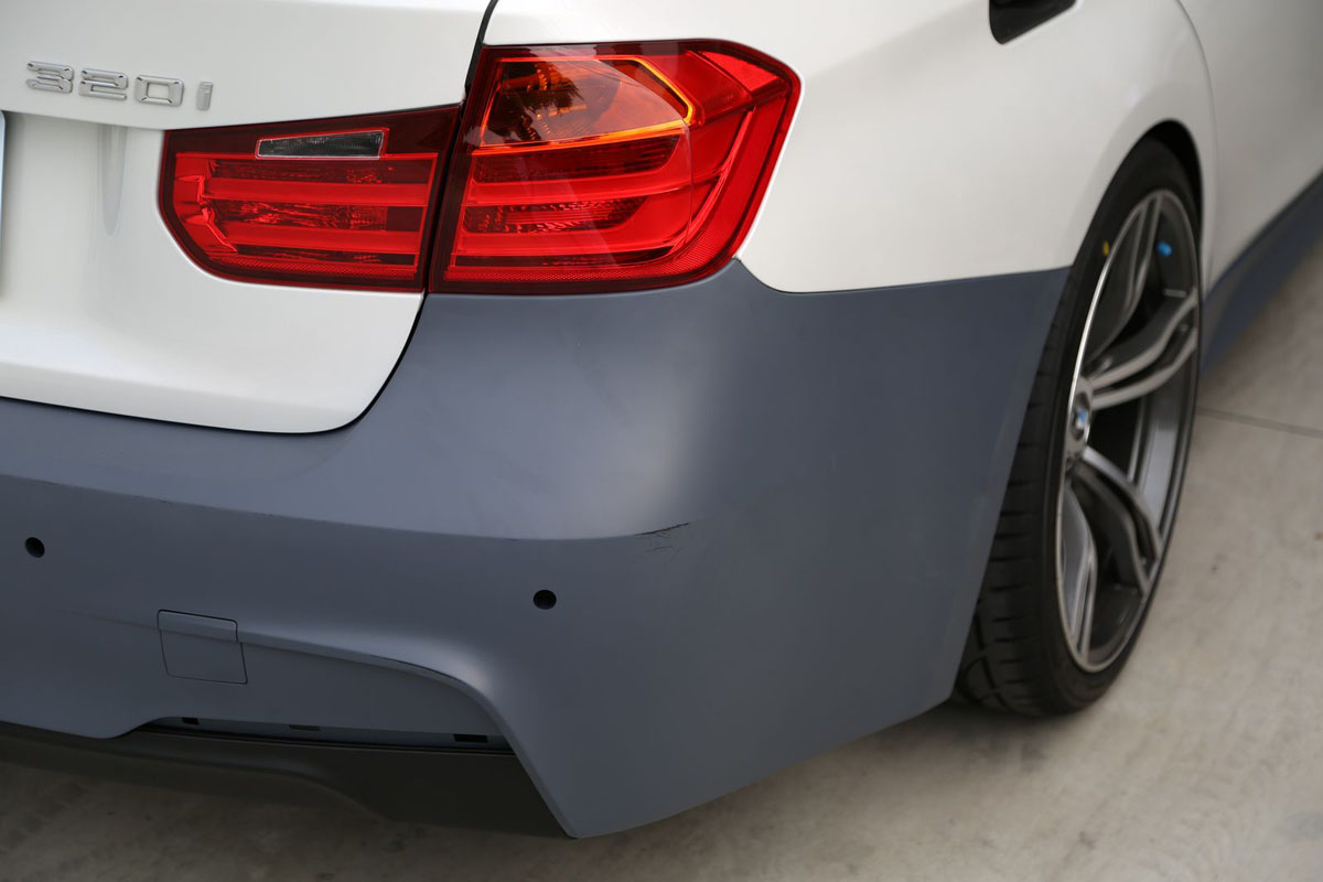 BMW F30 3-Series M-Sport Rear Bumper Bare Installed 2