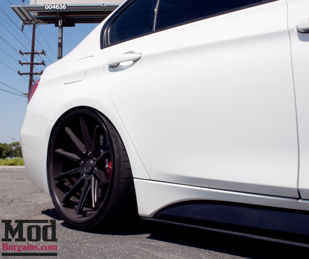 BMW F30 3-Series M-Sport Replacement Side Skirts at ModBargains.com Installed 2