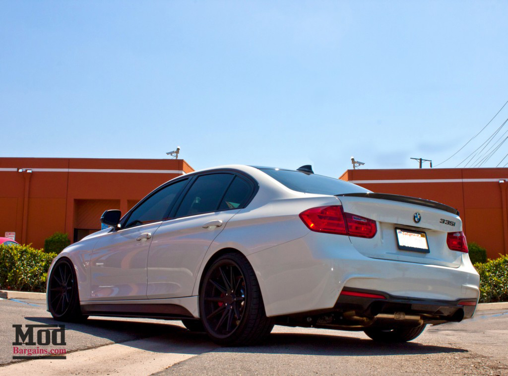 BMW F30 3-Series M-Sport Replacement Side Skirts at ModBargains.com Installed 4