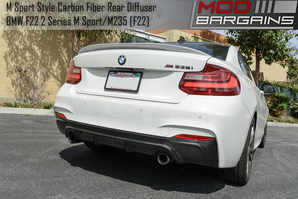 Carbon Fiber Rear Diffuser Installed on BMW M235i