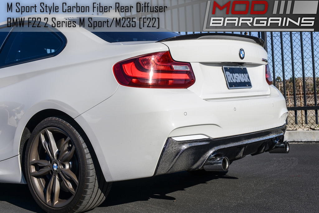 Close Side View of Carbon Fiber Rear Diffuser BMDI2221