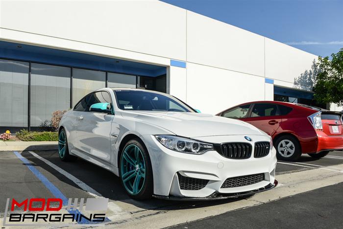 Carbon Fiber Front Lip for 2014+ BMW M3 and M4 F80 F82 F83 V4 Style - BMFS8X09
