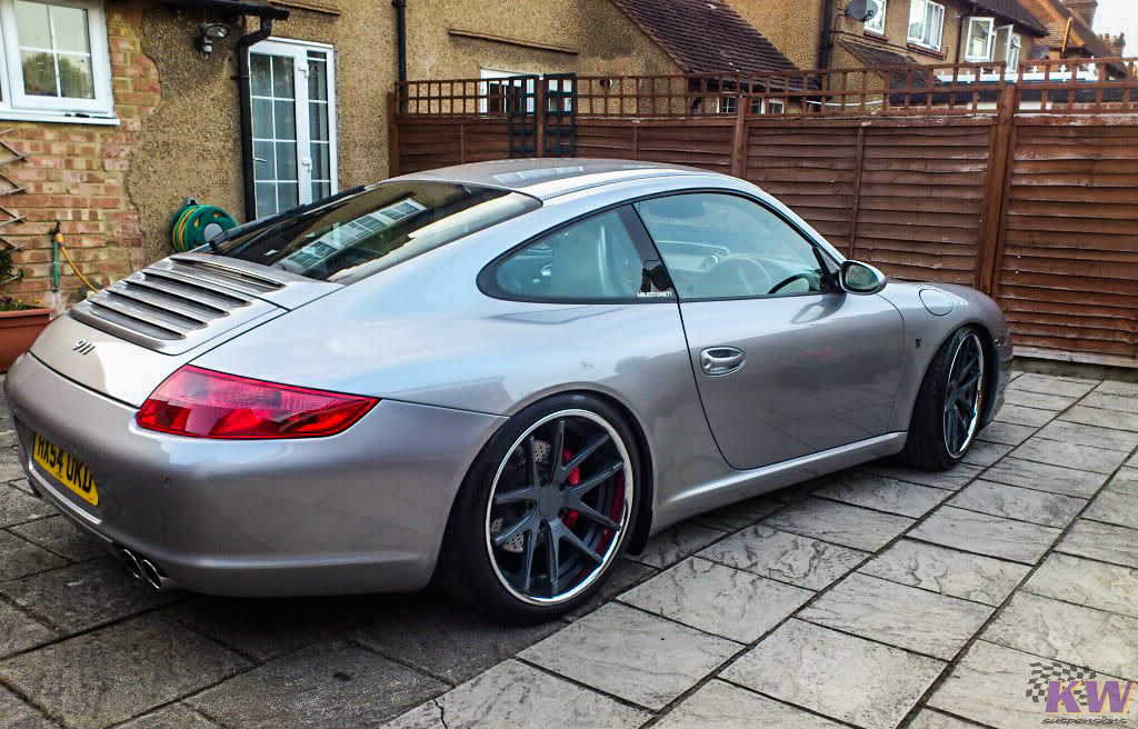 KW V3 Coilovers Installed on Porsche 996