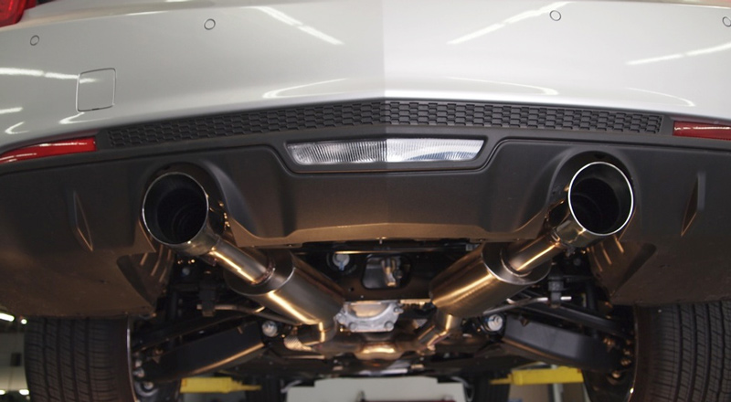 KPE Cadillac ATS 2.0T Axle Back Exhaust Mounted 3