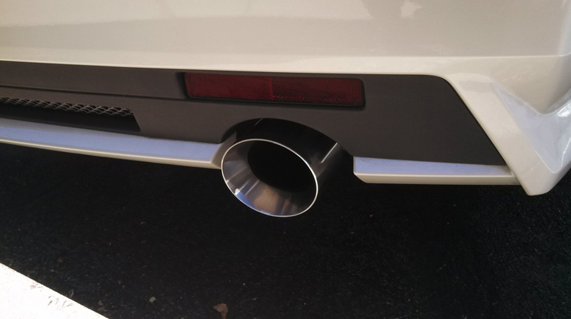 Korkar Performance Engineering Cadillac CTS V6 Axle Back Exhaust 4in Rolled Edge Tips 2