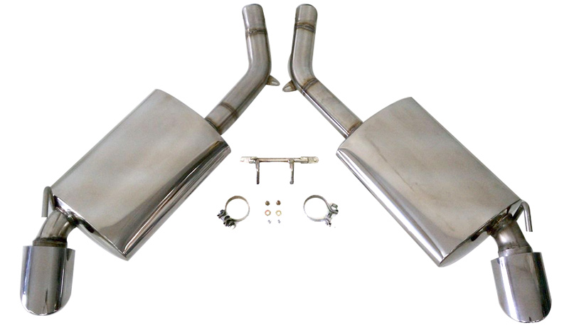 KPE Camaro V6 Axle-Back Exhaust Unmounted