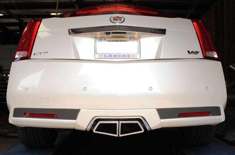 Korkar Performance Engineering Cadillac CTS-V Axle Back Exhaust Coupe Angled Tips