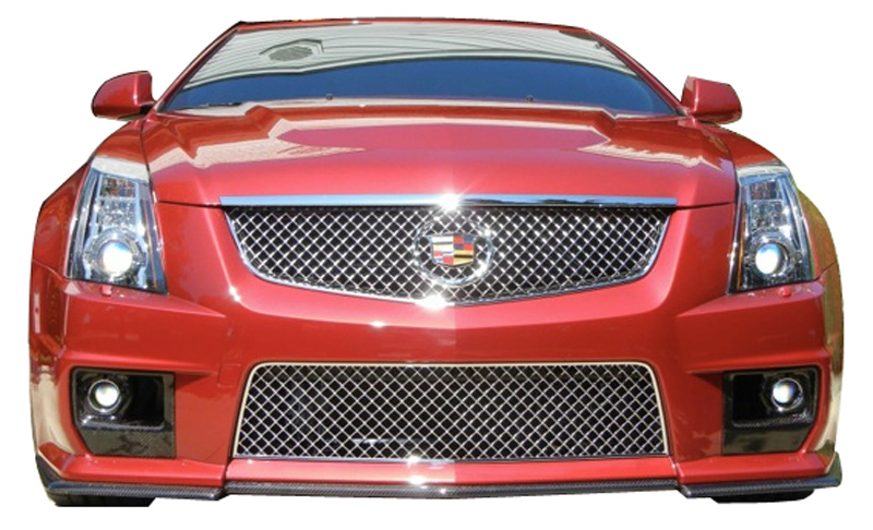 Korkar Performance Engineering Cadillac CTS 2008+ Carbon Fiber Foglight Bezels View 2