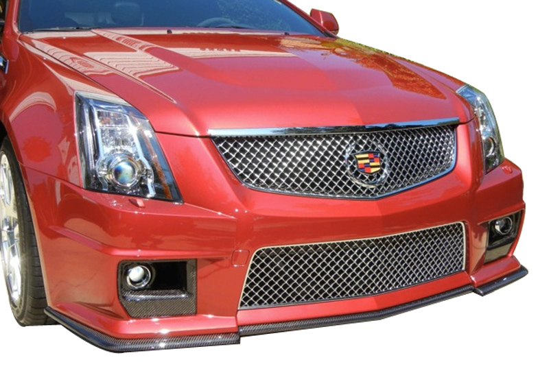Korkar Performance Engineering Cadillac CTS 2008+ Carbon Fiber Foglight Bezels View 4