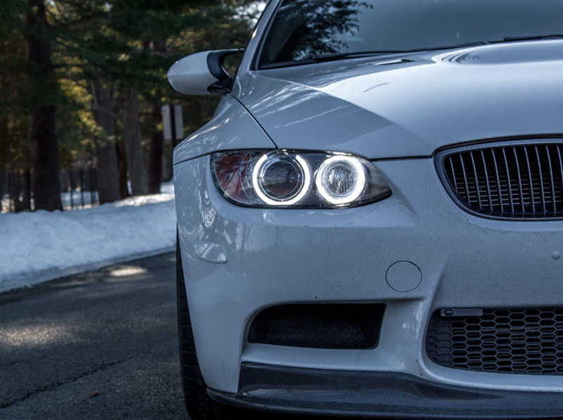 LUX H8 180 LED Angel Eyes Installed on BMW M3 (2)