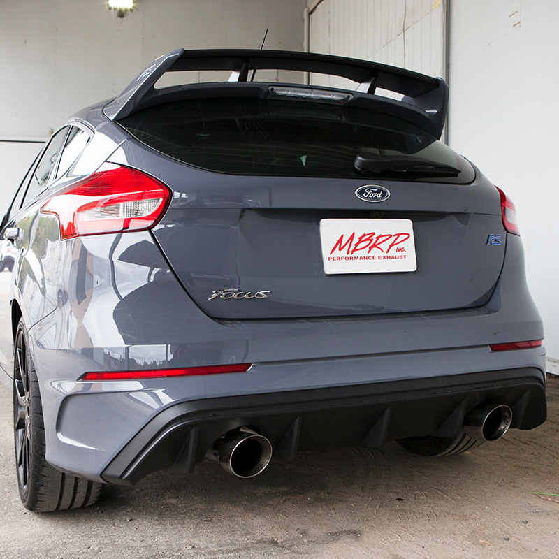 MBRP Installer Series Cat-Back Exhaust Installed on Ford Focus RS