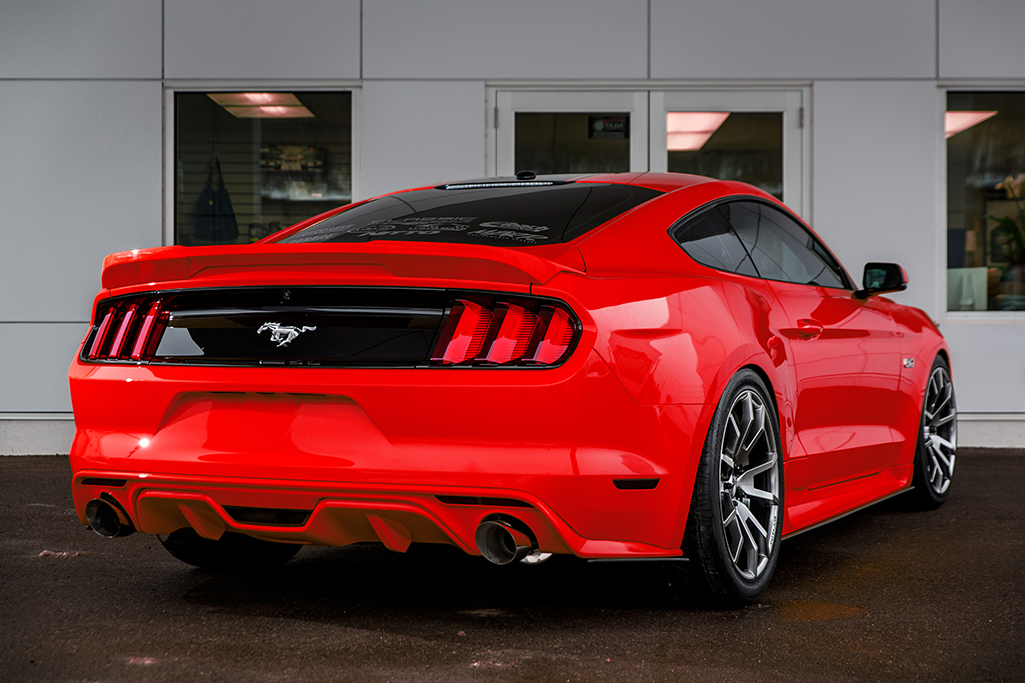 MBRP Pro Series Cat-Back Exhaust Installed on Mustang GT S550