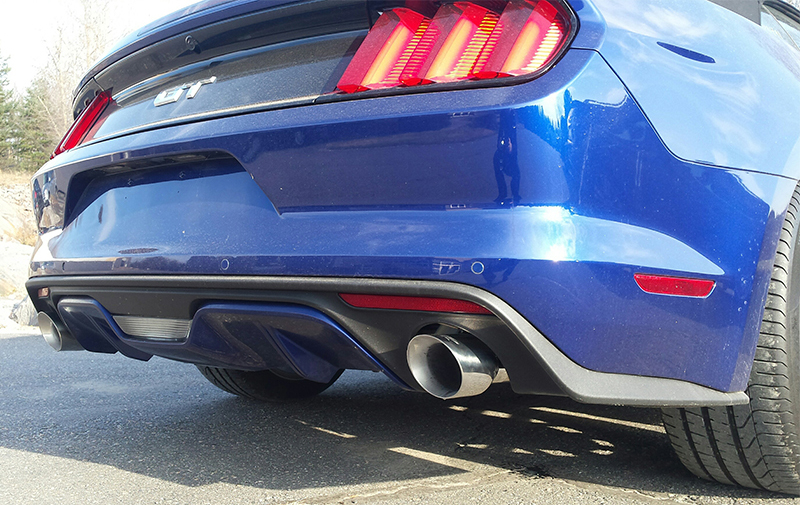 MBRP Axle Back Exhaust T304 Stainless Steel Installed on Mustang GT S550