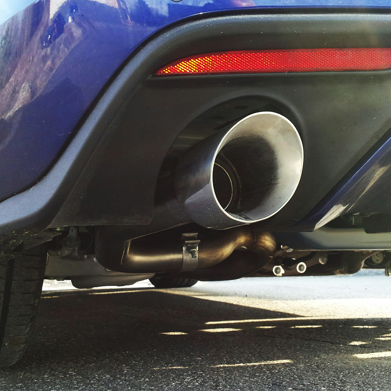 MBRP Axle Back Exhaust 4 inch Tips Installed on Mustang GT S550