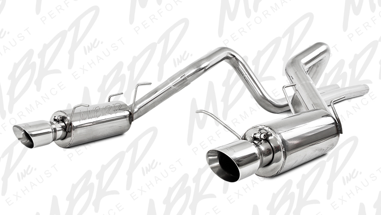 MBRP Cat-Back Exhaust for 2011-14 Ford Mustang GT 3in Tube w 4in Angled Tips View 1