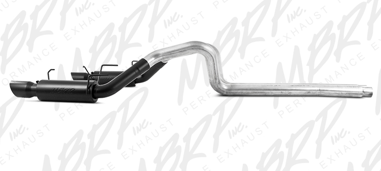 MBRP Cat-Back Exhaust for 2011-14 Ford Mustang GT 3in Tube w 4in BLACK Angled Tips View 2