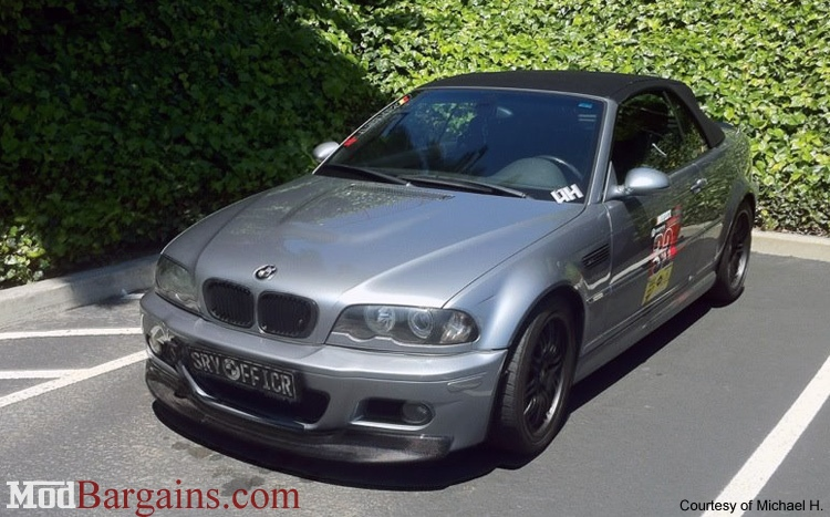 Carbon Fiber One Piece Lip BMW E46 M3 CSL Style Bumper