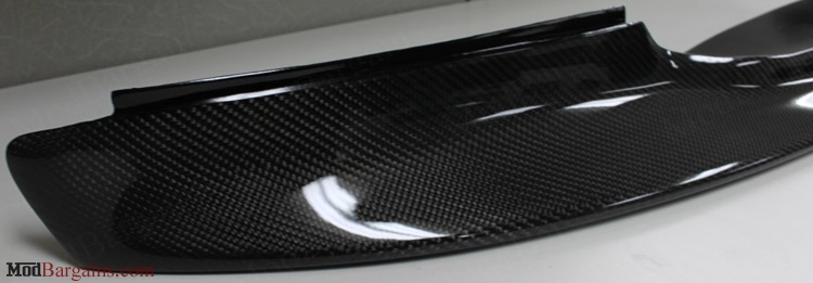 Up Close View of 1 Piece Carbon Fiber Front Lip