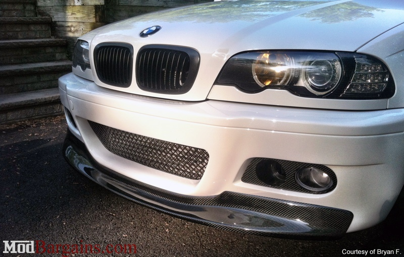 One Piece Front Lip in CF for BMW E46 M3
