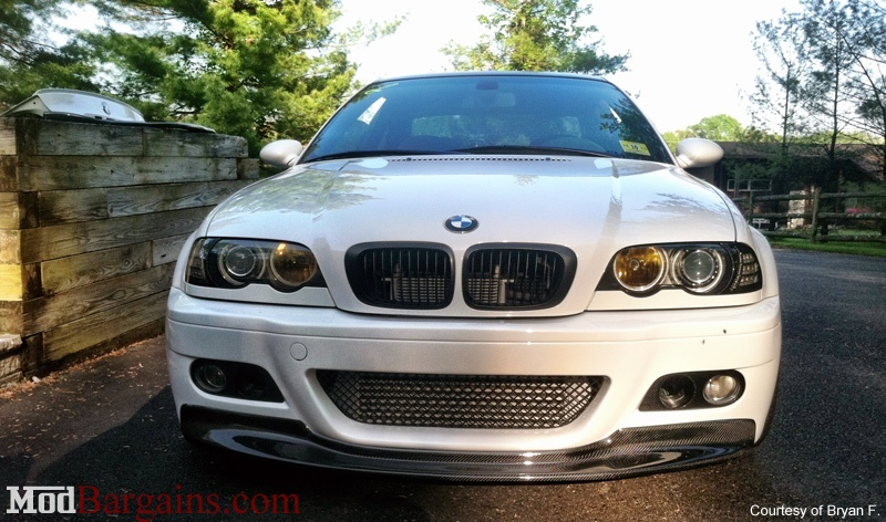 1 Piece Front Lip on BMW E46 M3 Carbon Fiber
