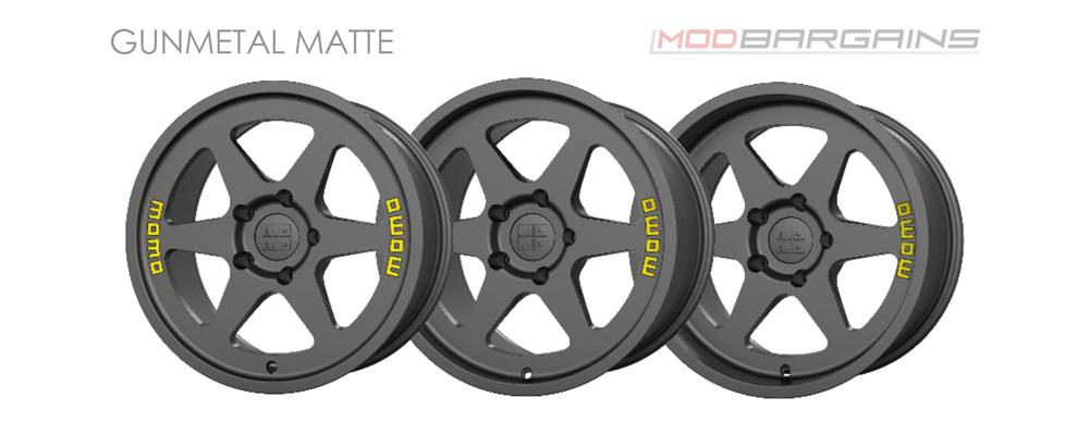 Momo Heritage 6 Wheel Color Options Gunmetal Matte Modbargains