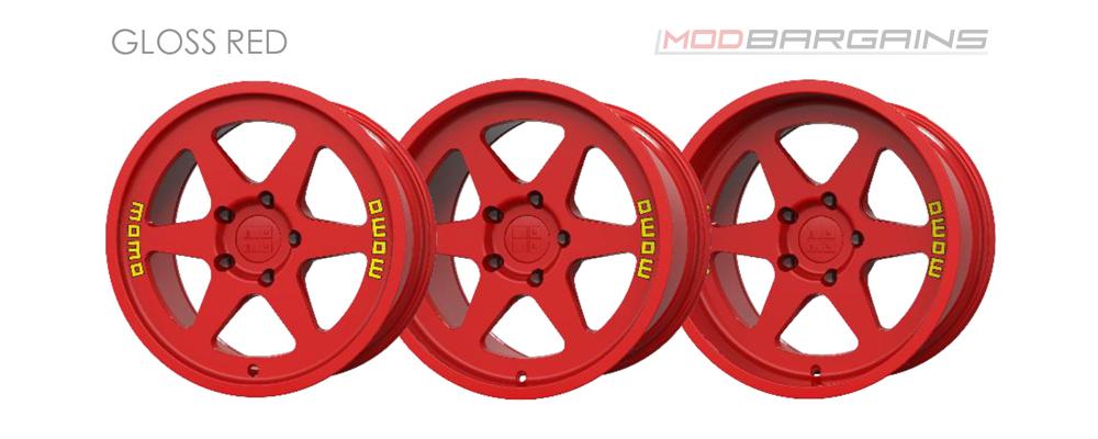 Momo Heritage 6 Wheel Color Options Gloss Red Modbargains
