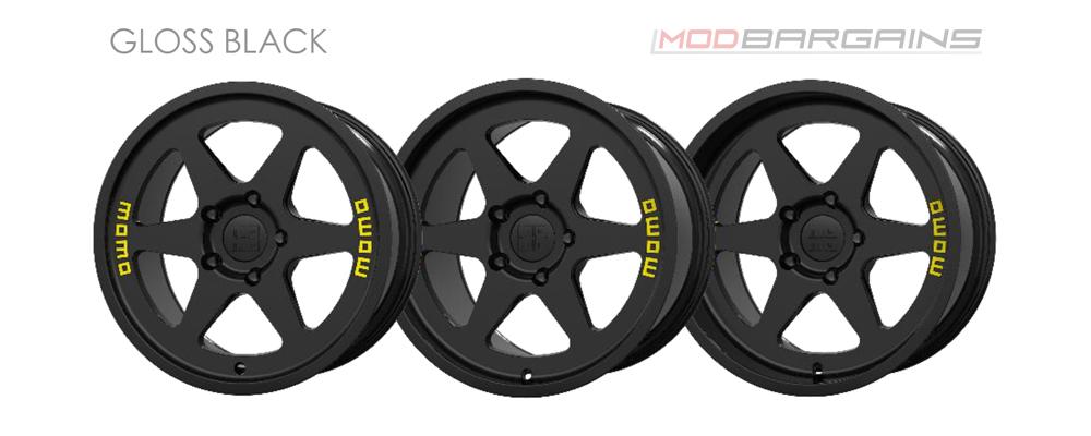 Momo Heritage 6 Wheel Color Options Gloss Black Modbargains