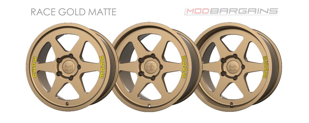 Momo Heritage 6 Wheel Color Options Race Gold Matte Modbargains