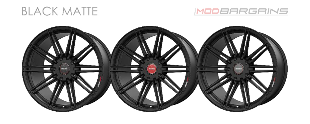Momo RF-10S Wheel Color Options Matte Black Modbargains