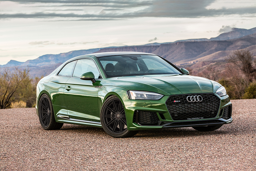 Momo RS-10S Wheels on Green B9 Audi RS5 Coupe Modbargains