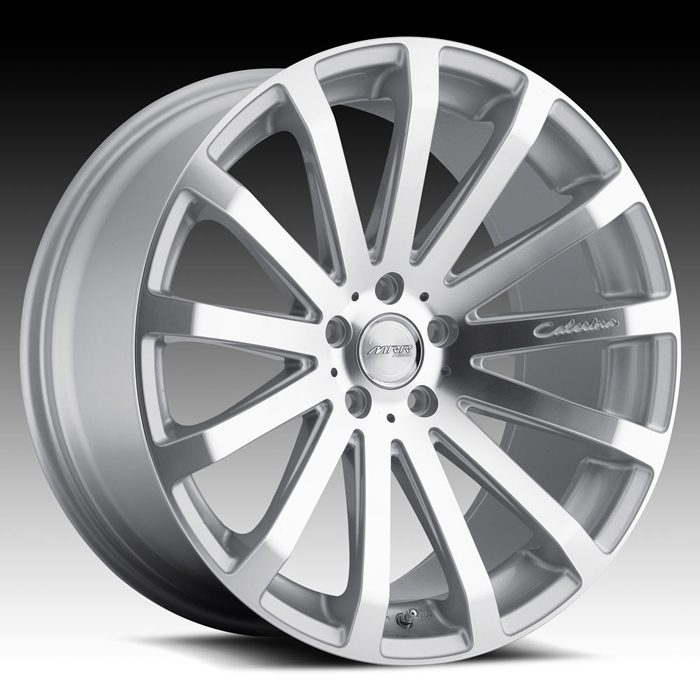 MRR HR9 Wheels Silver Machined Face Front