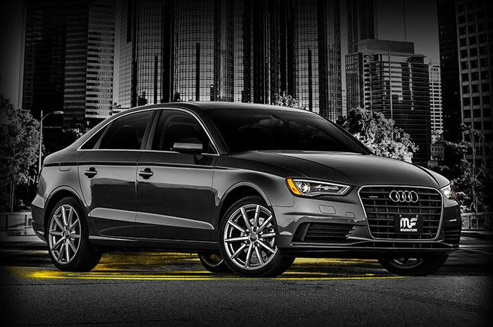 Black Audi A3 with Magnaflow exhaust