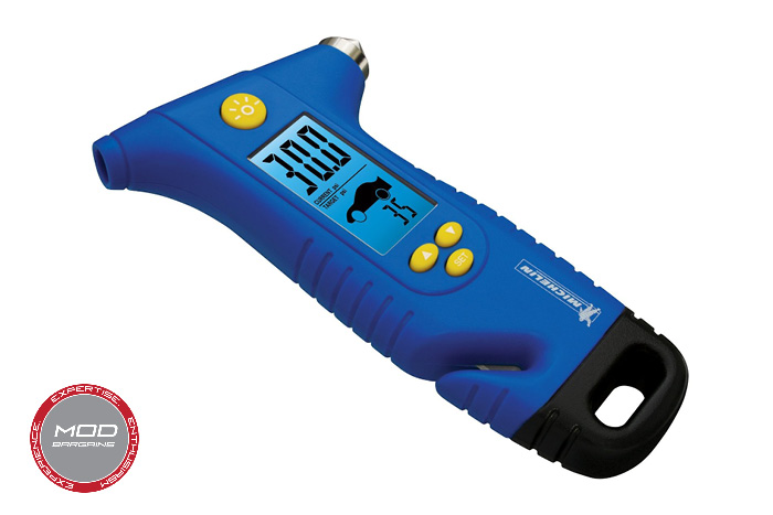 Michelin Tire Gauge with Emergency Hammer and Seat Belt Cutter